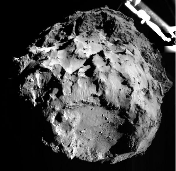 Foto del cometa tomada a 3 Km