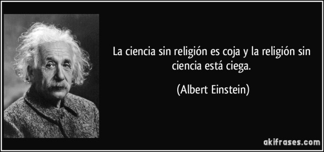 Einstein religión y ciencia